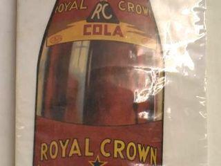 Paper Royal Crown Cola 23 5  bottle shaped advertising