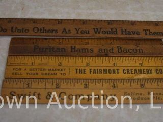 4  Souv  wooden rulers