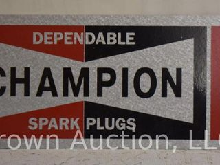 Champion Spark Plugs SS painted metal tacker sign