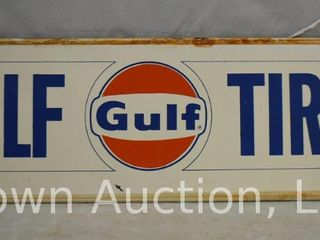Gulf Tires SST tire rack sign