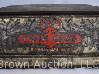 Twin Oaks coffin shaped tobacco humidor