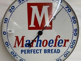 Marhoefer Perfect Bread bubble glass Pam Clock Thermometer