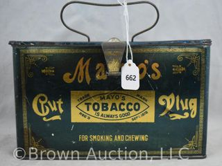 Mayo s Cut Plug lunch box tobacco tin