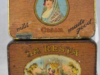 2  Cigars tin   laPaline Senators and laResta