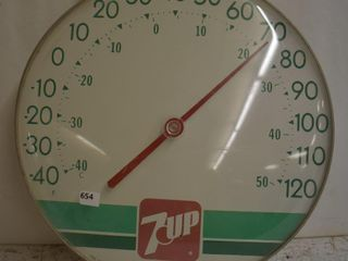 7Up Ohio jumbo dial advertising thermometer