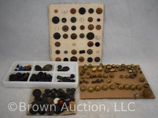 large assortment of old buttons
