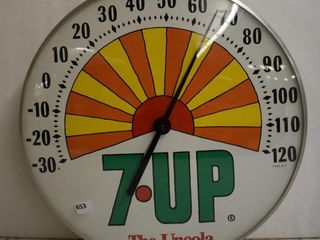 7Up bubble glass advertising thermometer