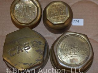 4  Vintage hubcaps   Case  Brush  Mitchell  Hayes