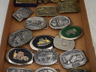 18  Implement dealer belt buckles   Case  Bush Hog  MF  etc