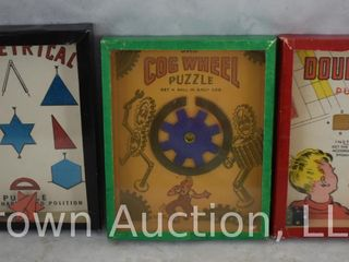 2  Vintage R J  Series of Popular Puzzles and  1  B  Shackman puzzle