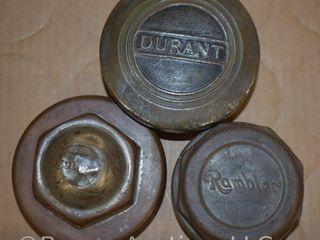 3  Vintage hubcaps   Durant  Rambler  1906 Thomas