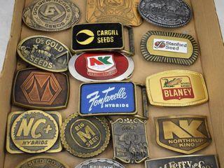 20  Seed dealership belt buckles   Fontanele  Cargill  Dekalb  Northrup King etc