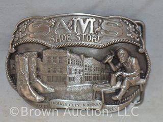 Sam s Shoe Store  Dodge City  KS belt buckle