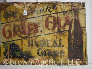Grape Ola sst advertising sign