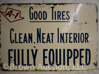 Ford A 1 Good Tires SST sign