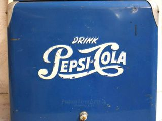 Pepsi Cola cooler ice chest w sandwich tray  bottle cap opener and intact plug