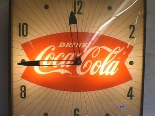Coca Cola fish tale bubble glass Pam clock
