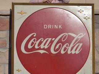 Drink Coca Cola SST embossed self framed sign