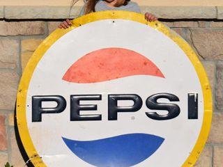 Pepsi embossed sst sign