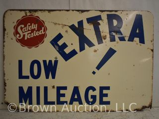 Safety Tested Extra low Mileage SST sign