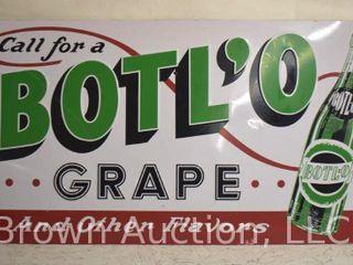 BOTl O Grape Soda embossed sst sign