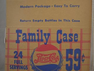 Cardboard Pepsi Cola  double dot  Family Case carry package