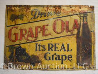 Grape Ola sst advertisng sign