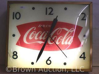 Coca Cola fish tale bubble glass Swihart clock