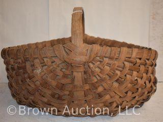 large vintage wicker basket  large weave