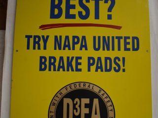NAPA Brake Pads sst sign