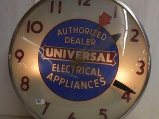 Universal Eectrical Appliances authorized dealer bubble glass advertising clock