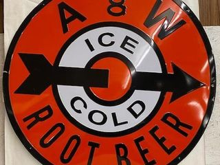 A and W Root Beer modern embossed SST sign