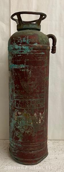 Vintage brass Flofoam Moel 833 fire extinguisher