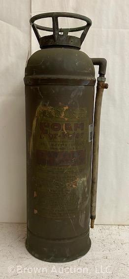 Vintage brass Fyr Futer fire extinguisher