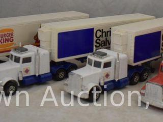 4  Matchbox Super Kings die cast tractor trailer units