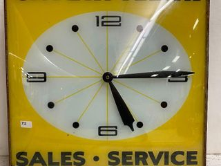 Caterpillar bubble glass PAM clock IJ no cord  does not light up or keep time  appears to be missing