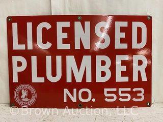 licensed Plumber SSP sign