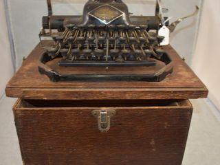 The Blickensderfer No  8 portable typewriter  original wood case
