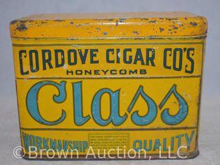 Cordove Cigar Co s Honeycomb Class tobacco tin