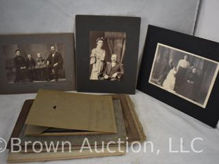 Assortment of  12  old family photographs