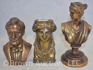 3  Bronze busts