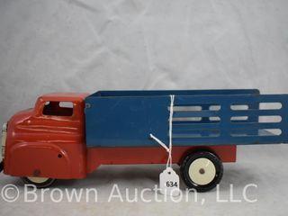 Wyandotte pressed steel stake truck