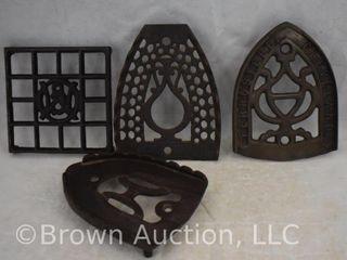 4  Cast Iron trivets