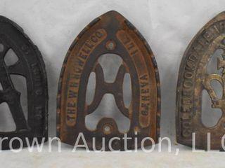 3  Cast Iron trivets