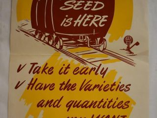 Advertising poster   G l F  Quality Seed    Your 1950 Seed is Here