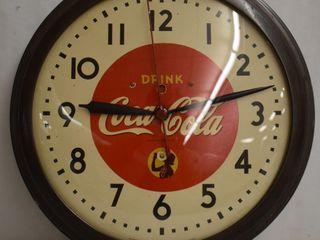 1930 s Model 1H512 Drink Coca Cola bubble glass advertising clock