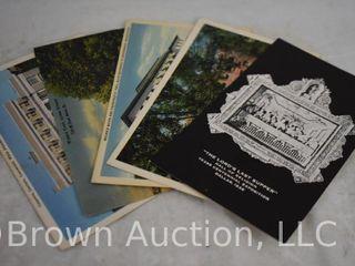 Assortment of  25  post cards   seasonal and souvenir