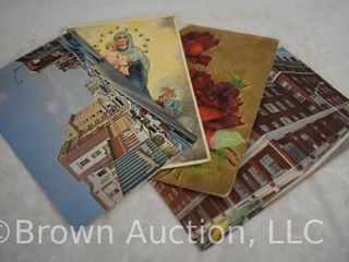 Assortment of  30  post cards   seasonal and souvenir