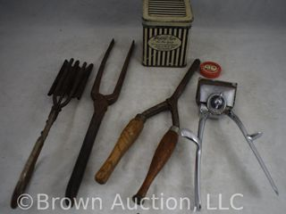 Assortment of hair styling tools and utensils