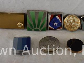 13  Vintage powder and rouge compacts